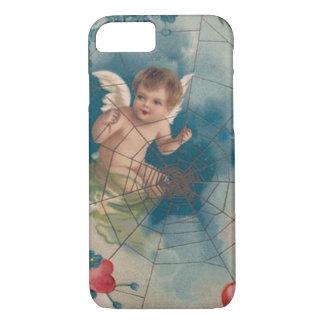 Coração do miosótis do Cobweb do Cupido do Capa iPhone 7