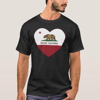 coração do mojave da bandeira de Califórnia Camiseta