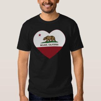 coração do mojave da bandeira de Califórnia T-shirts