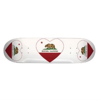 coração do montara da bandeira de Califórnia Shape De Skate 21,6cm