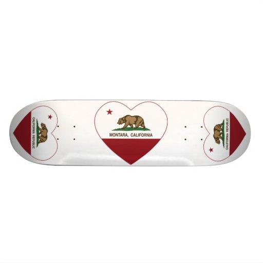 coração do montara da bandeira de Califórnia Skates