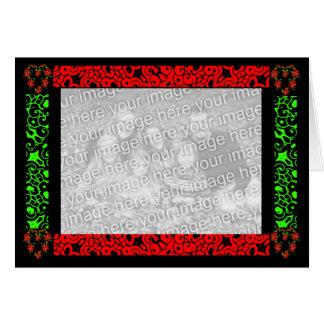 Coração do Natal Cartão Comemorativo