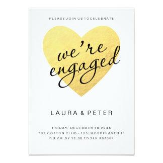 Coração do ouro do anúncio | do noivado