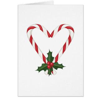 Coração do Peppermint Cartão Comemorativo