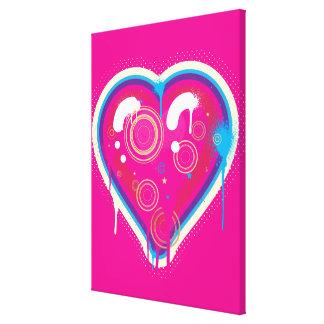 Coração do pop impressão em tela canvas