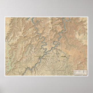 Coração do poster do mapa de Canyonlands (Utá)