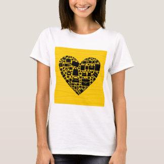 Coração do saco camiseta