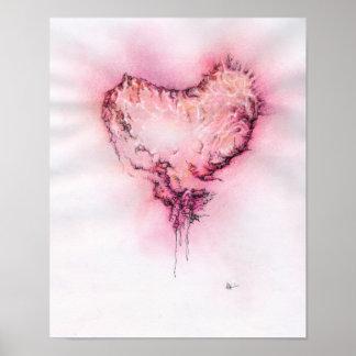 Coração do Scribble - impressão
