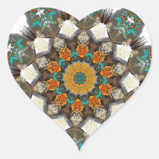 Coração do sudoeste sticker1 do design do adesivos de corações