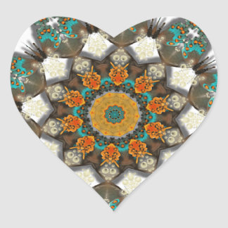 Coração do sudoeste sticker1 do design do caleidos adesivos