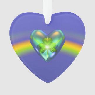 Coração do trevo do dia do St. Patricks