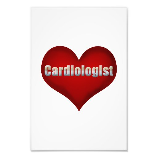 Coração do vermelho do cardiologista impressão fotográfica