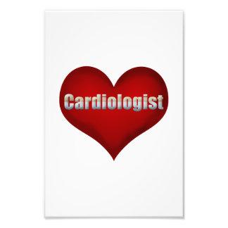 Coração do vermelho do cardiologista impressão de foto