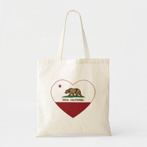 coração do vista da bandeira de Califórnia Bolsa Para Compra