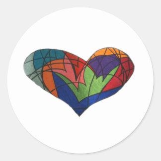 Coração do vitral adesivo
