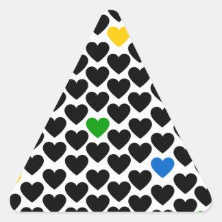 Coração dos corações adesivo triangular
