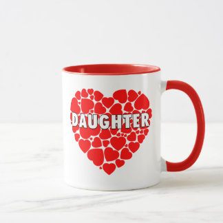 Coração dos corações - caneca da filha