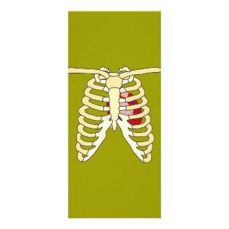 Coração e reforços 10.16 x 22.86cm panfleto