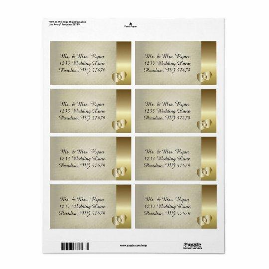 Coração elegante do ouro do vintage etiqueta de frete