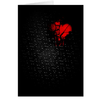 Coração em quebra-cabeça perdido cartão comemorativo