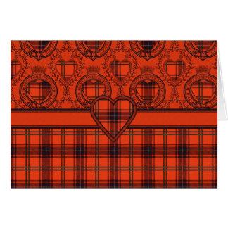 Coração escocês Wemyss do Tartan do cartão de