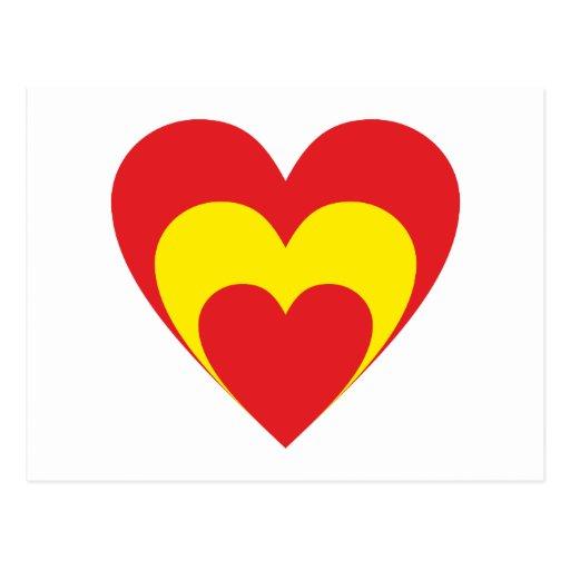 Coração Espanha heart Spain Espana Cartão Postal