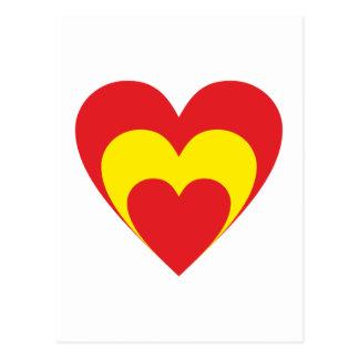Coração Espanha heart Spain Espana Cartões Postais