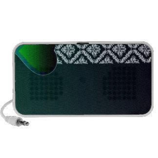 Coração esverdeado bonito e damasco branco puro sistema de som