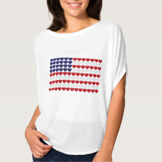 Coração EUA Camiseta