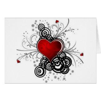 coração extravagante, eu te amo, cartão bonito