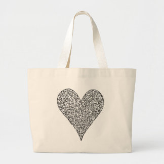 Coração, feito das caras bolsa de lona
