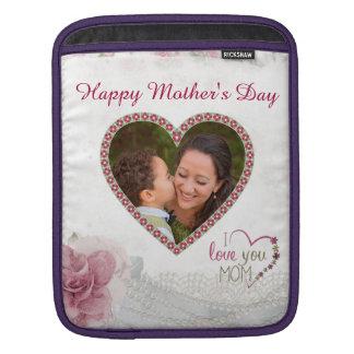 Coração feliz do dia das mães personalizado capa de iPad