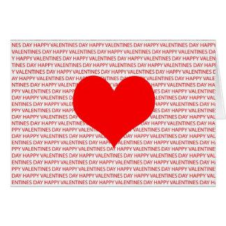 Coração feliz do dia dos namorados cartão comemorativo