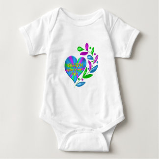 Coração feliz do salão de baile body para bebê
