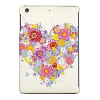 Coração floral com borboletas capa para iPad mini retina