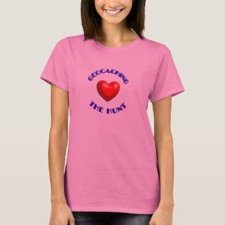 coração geocaching do coração a caça camiseta