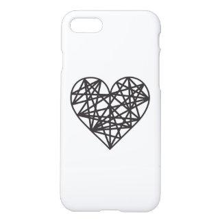 Coração geométrico capa iPhone 7