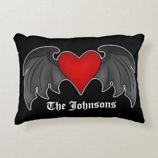 Coração gótico personalizado almofada decorativa