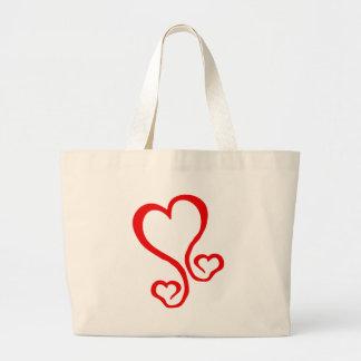 coração-grafit bolsa para compras