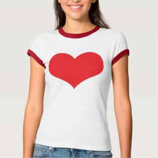 Coração grande tshirts