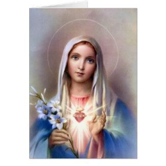 Coração imaculado do cartão de Mary