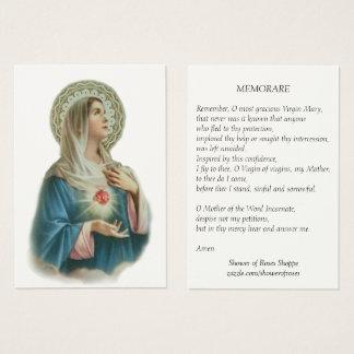 Coração imaculado do cartão santamente da oração