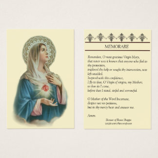 Coração imaculado do cartão santamente de Mary