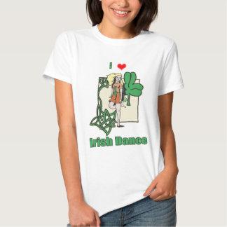 Coração irlandês da dança tshirt