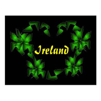 Coração irlandês eu amo o cartão de Ireland