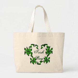 Coração irlandês no saco branco - customizável bolsa para compras