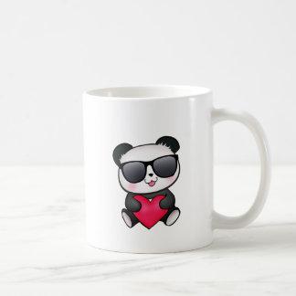 Coração legal do dia dos namorados dos óculos de caneca