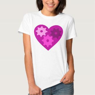 Coração malva camiseta