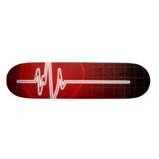 Coração Moniter Shape De Skate 18,4cm