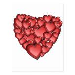Coração muito cartão postal